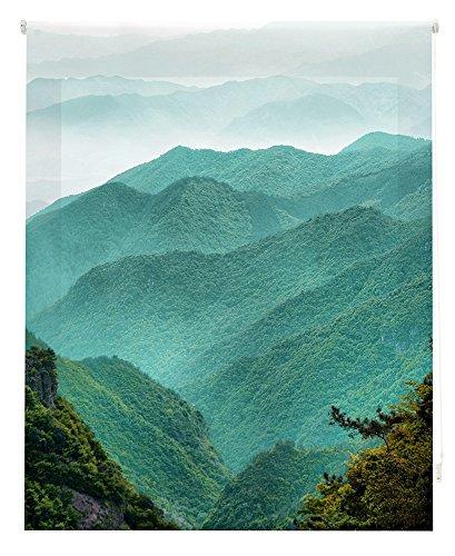 Happystor HSZ94001 Estor Enrollable Estampado Digital Zen Tejido Traslúcido Medida Total Estor:85x180 (**Solo Ancho Tela:81-82cm.**)