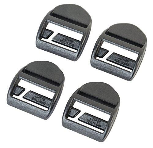AceCamp 7052Accessoires aus Duraflex Schnell Befestigen Tension Locks (4Stück), schwarz, 25mm