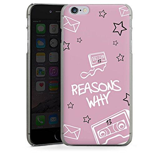 Apple iPhone X Silikon Hülle Case Schutzhülle 13 reasons reasons why Netflix Hard Case anthrazit-klar