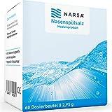 Nasenspülsalz 60stk NARSA® für die Nasendusche zur Reinigung der Nase bei Erkältung oder Allergie und Trockener Nase Nasenreinigung Nasenreiniger Nasensalz Salz Nasenspülung bei Schnupfen