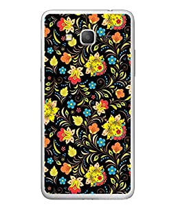 FUSON Designer Back Case Cover for Samsung Galaxy E5 (2015) :: Samsung Galaxy E5 Duos :: Samsung Galaxy E5 E500F E500H E500Hq E500M E500F/Ds E500H/Ds E500M/Ds (Yellow Blue Flowers Pattern Multi Colour Abstract)