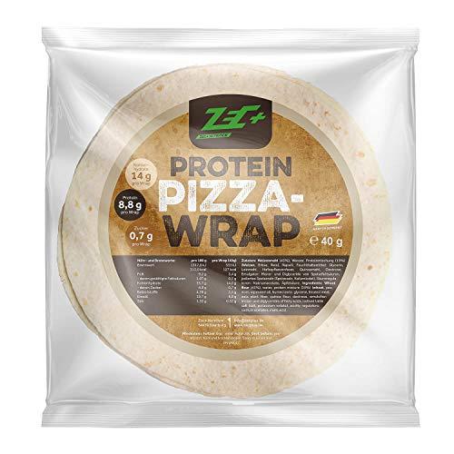 ZEC+ Protein-Pizza Wraps - 8 Protein-Wraps als fertiger Low-Carb Pizzaboden zum Selbstbelegen, ideal für eine proteinreiche Fitness-Pizza oder als Low-Carb Snack, 100% vegan, Made in Germany