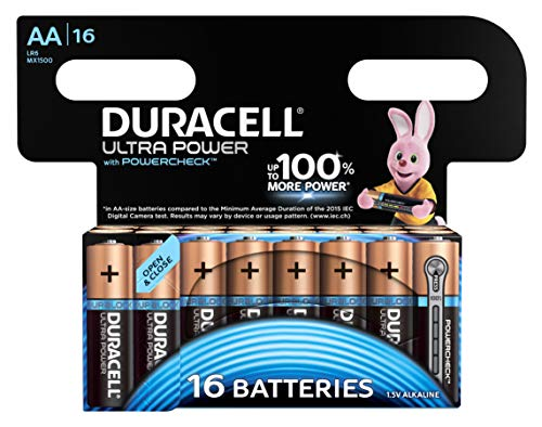 Duracell Ultra Power Alkaline AA Batterien, 16er Pack
