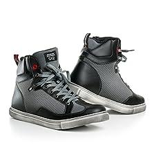 Shima SX-2, Chaussures Moto D'été Retro Classique Style Urbain Protecteur (41-46), Noir, Taille:45