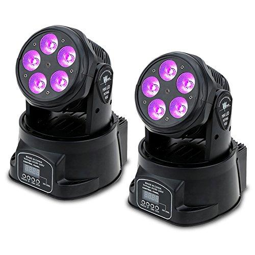 Lixada 75W DMX512 Moving Head, Disco Licht, Effektstrahler, 10/15 Kanäle Klangregelung Automatisch Rotierenden LED Bühne Muster Lampe für KTV Disco Club Party(2 pcs)