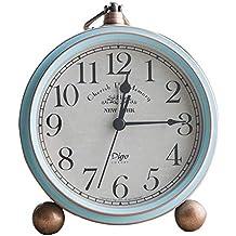 dongzhifeng Reloj Despertador Junto a la Cama, Reloj Retro mediterráneo, Dormitorio en casa con