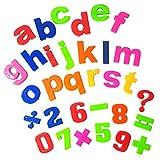 Land-Haus-Shop® Magnetbuchstaben und Magnetzahlen SET 52 Teile bunte Farben, Magnet Buchstaben Zahlen