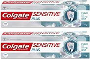 Colgate Sensitive Plus Toothpaste, 140g,(70gX2) , Instant Relief from tooth sensitivity pain, long lasting pro