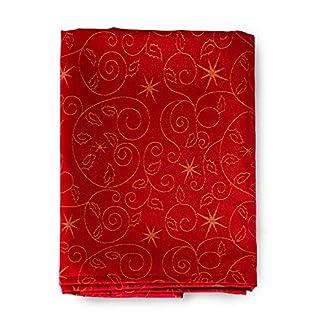 BGEUROPE – Servilletas de Navidad – Tratamiento Anti Manchas – Ref. Christmas Star – Rojo, 18 x 18″ (45 x 45cm)
