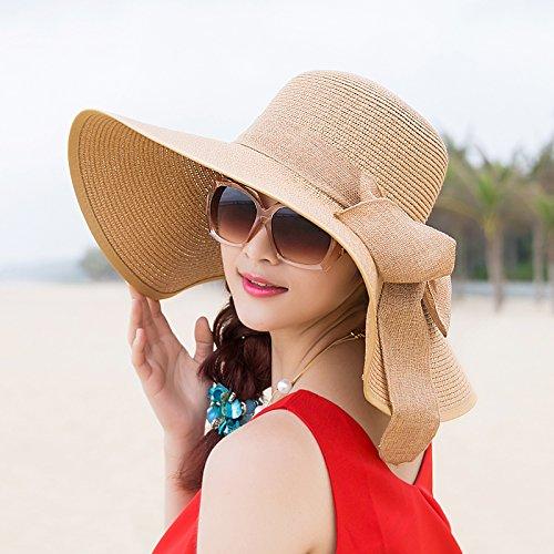 upper-dame-le-pliage-dun-chapeau-de-paille-beach-hat-chapeau-de-soleil58cmkakis