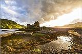 Poster 100 x 70 cm: Eilean Donan Castle in den Highlands,