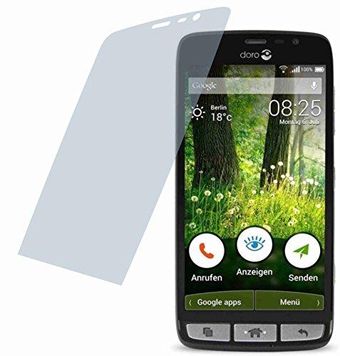 4ProTec 2X Crystal Clear klar Schutzfolie für Doro Liberto 825 Premium Bildschirmschutzfolie Displayschutzfolie Schutzhülle Bildschirmschutz Bildschirmfolie Folie