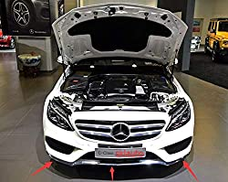 FidgetGear Frontstoßstange, Chrom, für Mercedes W205 C300 C350 C200 2014-2017, 3 Stück