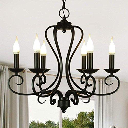 JU Pastoralen Kronleuchter Mediterrane Eisen Retro Wohnzimmer Warm Dining Lamp European Candle Lights
