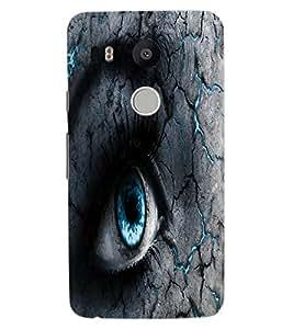 ColourCraft Scary Eyes Design Back Case Cover for LG GOOGLE NEXUS 5X