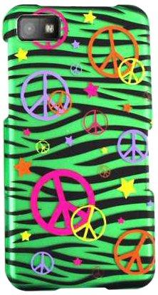 Zelle Armor bbz10-snap-te320-s Schutzhülle zum Aufstecken für BlackBerry Z10-Retail Verpackung-Frieden Schilder auf Grün Zebra Cover Zebra-snap