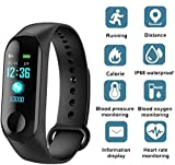Junaldo Smart M3 Plus band Size: 255*18*11mm Color Availability : black, red, blue Battery: 110mAh Polymer Lithium-ion Charging time: 1-2 hours Model: M3 Plus Material: plastic and TPU Using time: About 20 days APP Name: Yoho Sports 2.0 Function: Pas...