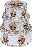 matrasa Vorratsdose RAFFAELS Engel für Weihnachtsplätzchen - Plätzchendose Gebäckdose 3er Set
