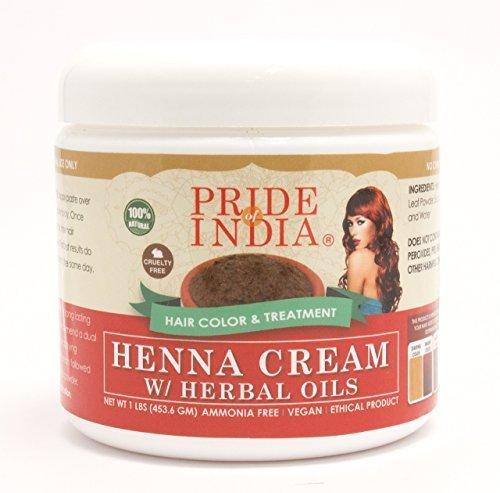 Pride Of India - Crème Rouge Henné Couleur des cheveux w / Huiles à base de plantes (Prêt à l'emploi), One Pound (16 oz) Jar - 100% naturel (pas de produits chimiques / Colorants) PRIX RÉGULIER: 19.99 $, PRIX DE VENTE: 16,99 $