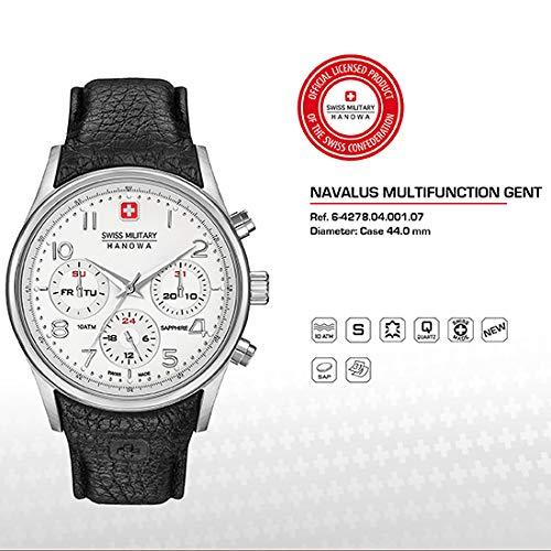 SWISS MILITARY-HANOWA Herren Analog Quarz Uhr mit Leder Armband 06-4278.04.001.07
