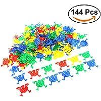 Figuras de ranas TOYMYTOY juguete plásticas de ranas para los niños que juegan las partes favor regalos Color clasificado 144pcs