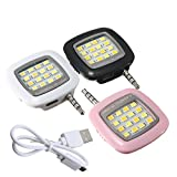 Bluebill Basic MINI Portable 16 LED Spotlight smartphone led flash fill light for iPhone and Android Devices for External Flash Fill Light Self,Assorted