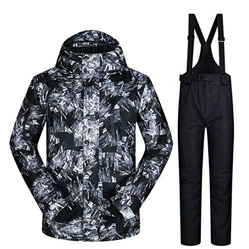 XYQY Herren Ski Anzug 2019 Neue Outdoor warm wasserdicht Winddichte atmungsaktive männliche Winter Snowboard Jacke und Hose Schnee Anzug Set Marken l HYH SCHWARZ -