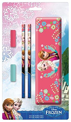 Disney Frozen – Plumier de Metal con Accesorios, 15 x 27 cm (Arditex WD8928)