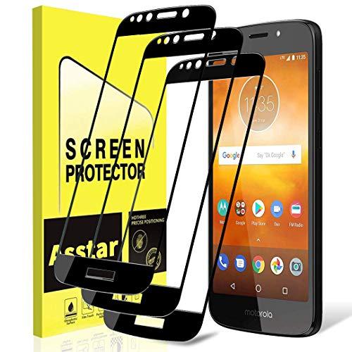 Motorola Moto E5 Play Displayschutzfolie aus gehärtetem Glas [Full Cover] 9H Härte Anti-Kratzer [Blasenfrei] Displayschutzfolie mit für Motorola Moto E5 Play/Moto E5 Cruise [3 Pack]