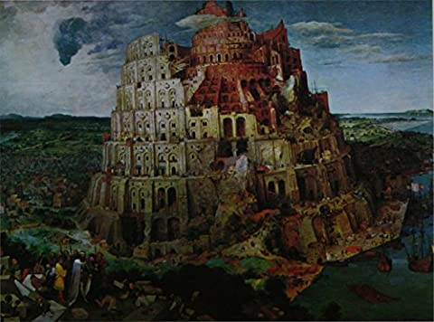 The Tower of Babel - Bruegel - Framed Picture 11 x 14