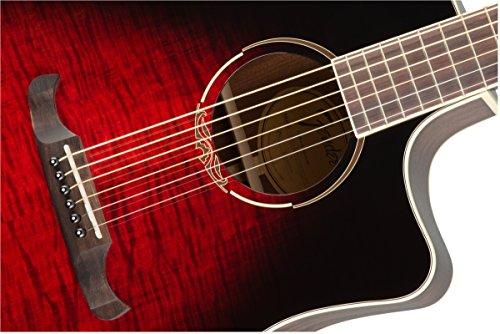 Fender T-Bucket 300CE FLM MPL–Trans Cherry Burst
