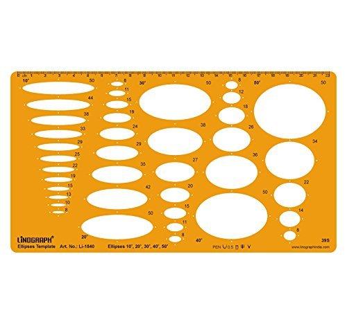 Ellipse Master-Vorlagen Entwurf und Design-Vorlage Stencil Symbole Technische Zeichnung Maßstab Template
