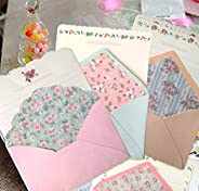 SCStyle 32 Cute Kawaii Lovely Special Design Writing Stationery Paper with 16 Envelope - 32 Letter paper (7.1x