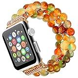 Für Apple Uhrenarmband 42mmm,Qianyou Herren Frauen Mode Elastische Stretch Ersatz Armbanduhr Armband für Apple Watch Serie 1 Serie 2 Serie 3,Sport, Edition (Bunter Achat)