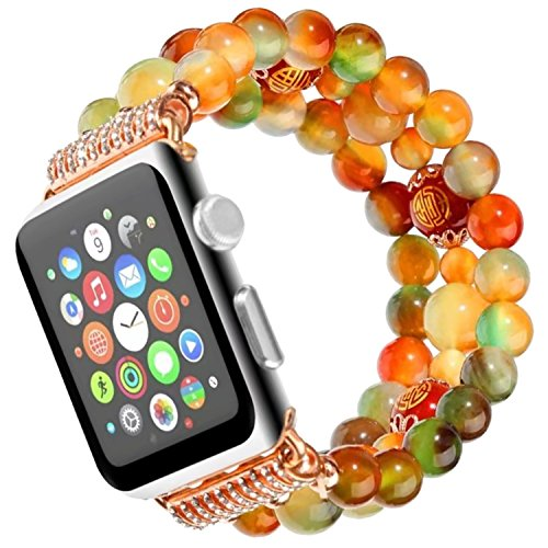 Nike-monitor-armband (Für Apple Uhrenarmband 42mmm,Qianyou Herren Frauen Mode Elastische Stretch Ersatz Armbanduhr Armband für Apple Watch Serie 1 Serie 2 Serie 3,Sport, Edition (Bunter Achat))