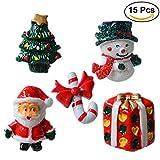 ROSENICE 15 Stück Weihnachten Dekofiguren Tischdeko Kinder Mitgebsel Geschenke Miniatur Deko