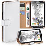 moex Samsung Galaxy S4 Active | Hülle Weiß mit Karten-Fach 360° Book Klapp-Hülle Handytasche Kunst-Leder Handyhülle für Samsung Galaxy S4 Active Case Flip Cover Schutzhülle Tasche
