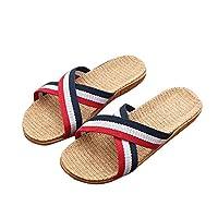 Gfengkuan Women Flip Flops Thick Bottom Slippers Loafers Wedges Flat Flip Flops Home Shoes Slippers Antislip Home Indoor Summer Slippers Sandals Shopping Flip Flops School Work Slippers (40, Red)