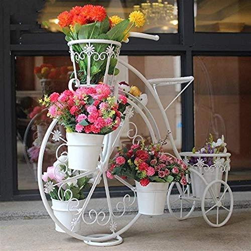 QYJpB Soporte De Flores Soporte Europeo Para Plantas De Bicicletas, Soporte De Flores De Múltiples Capas De Hierro Forjado, Soporte De Flores Para Colocar Sobre El Suelo Del Balcón, Estante Para Estan