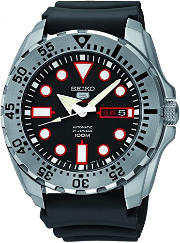 Seiko 5 Sports Unisex automatic Watch with Black Dial Analogue Display - SRP601K1