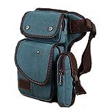 Foino Borse da Viaggio Marsupio Uomo Sacca da Gamba Sport Leg Bag Sacchetto Vintage Marsupi Outdoor Borsello per Trekking Borsa Escursioni