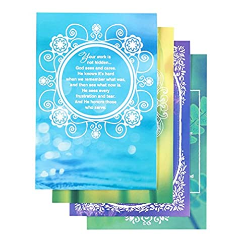 DaySpring Encouragement for Caregivers Boxed Greeting Cards w Embossed Envelopes, 12 Count (77489) by