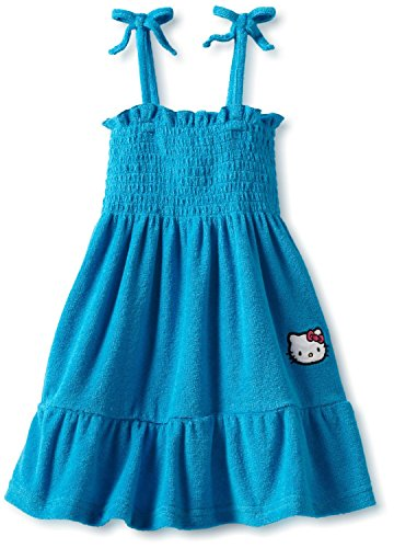 Hello Kitty Terry Sundress (3T, Blue) (Cover Up Beach Terry)
