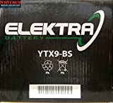 BATTERIA ELEKTRA YTX9-BS PER AEON Overland 180 2002-2008 12V 8 Ah CON ACIDO