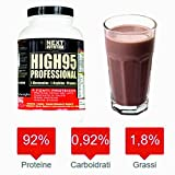 Protéine 90% libération progressive Blend Protein | 4 sources de protéines - Protéines totales du lait, - Caséinate de calcium, - Protéines de lactosérum ultrafiltrées et concentrées - Blanc d'œuf | Enrichi avec de la glutamine arginine et des vitamines | Augmentation de la masse musculaire, Gluten-free, Bodybuilding, vanille Gr 1000 saveur