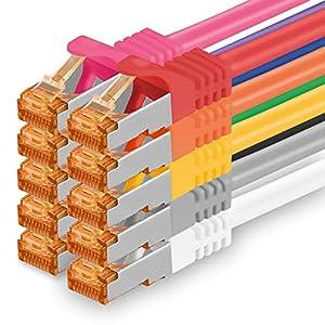 Patch Panels Negro 1 Pieza CAT6 Ethernet LAN Cable de Red 1000 Mbit//s Patchkabel CAT6 S-FTP Doble blindado PIMF 250MHz hal/ógenos Compatible con CAT5 CAT6a CAT7 CAT8 3m