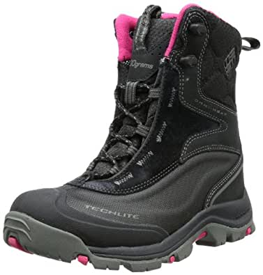 Columbia Bugaboot Plus BL1490, Damen Snowboots, Schwarz (Black, Bright Rose 010), EU 38 2/3 (UK 5.5) (US 7)