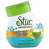 Stur - Agua + piña líquidas del coco del reforzador del agua - 1.28 la Florida. onza.