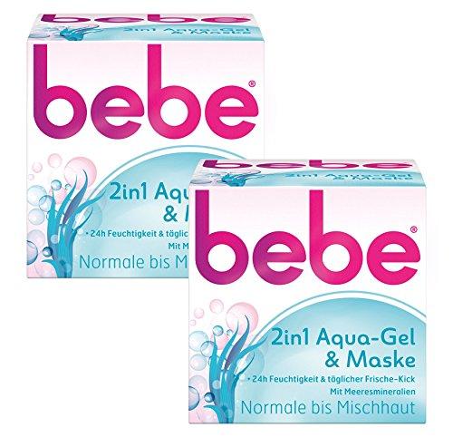 bebe 2in1 Aqua-Gel & Maske - Kühlendes Feuchtigkeitsgel & Feuchtigkeitsmaske - für Normale bis...