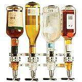 Supporto a Parete 4-Stazione Bar Maggiordomo Distributore di Vino Liquori Cocktail